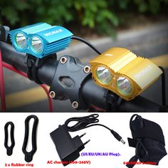 A21 5000 Lumen 2x  U2 LED Bicycle Front Light LED MTB Mountain Cycling Bike Light Spotlight Lamp + Battery + Charger