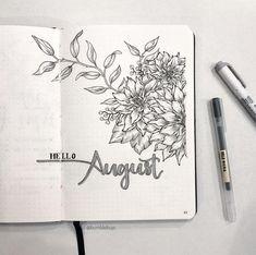 Handmade Planner Cover - August