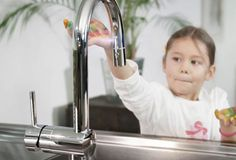 GROHE Minta Touch is great for messes big and small - with touch technology makes cleaning a breeze...x