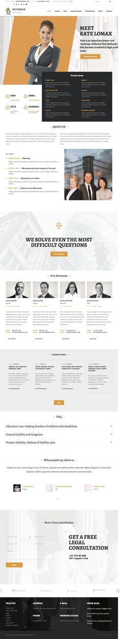 Defender WordPress Attorney & Lawyer Theme - www.wpchats.com