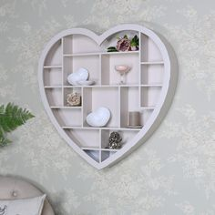 Here at Melody Maison, we stock a fantastic range of elegant shabby chic and french style items, ranging from furniture ranges to home accessories. Heart Shelf, Shabby Chic Shelves, Diy Home Crafts, Wooden Hearts, Awesome Bedrooms, Display Shelves, Interior Styling, Home Projects, Living Room Decor