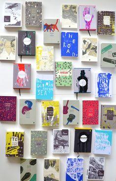 English Literature_Book Covers by Nikola Klímová, via Behance