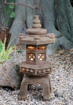 Japanese Pagota Fountain w/ Light