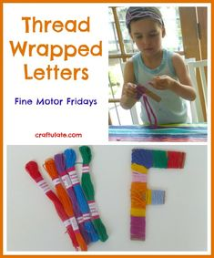 Thread-Wrapped Letters - Craftulate