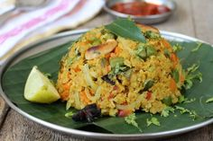 Oats Upma - Indian recipes with Oats - Andhra Style Oat Upma Recipe » All Recipes Andhra Recipes Indian Breakfast Recipes Indian Vegetarian Recipes Lunch Box Recipes Recipes Vegetable Dishes Indian Food Recipes | Andhra Recipes | Indian Dishes Recipes | Sailu's Kitchen
