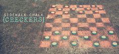 sidewalk chalk checkers