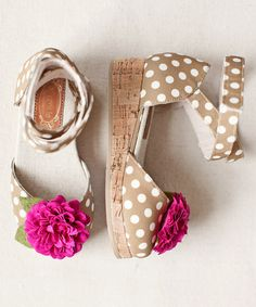 Taupe Mika D'Orsay Wedge & Hair Clip - Kids