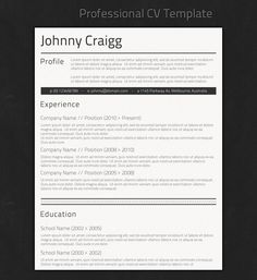 Standard Resume Formatting with Resume Templates