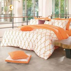 buy orange quilt cover - Google Search