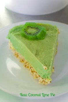 Raw, Vegan Coconut Lime Pie