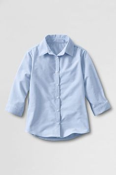 Women's 3/4-sleeve Oxford Shirt from Lands' End