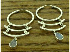 Shutter with Moonstone Silver Earrings | Silver Bubble: https://silverbubble.co.uk/shutter-moonstone-silver-earrings-6621