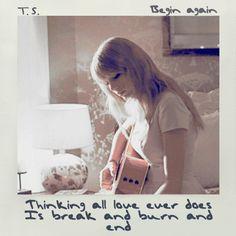 Begin Again - Taylor Swift. Polaroid 1989.