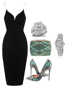 """""""Date night!!"""" by mercyomondi on Polyvore featuring La Regale, Christian Louboutin, Topshop and Rolex"""