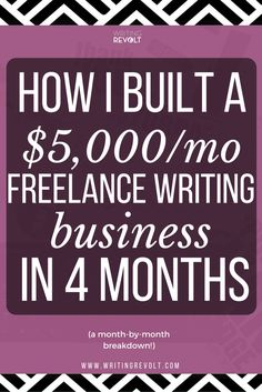 Wanna start your own freelance writing business? Steal the strategies I used to build one quickly and make $5,000 per month from it fast! make money writing online, how to start freelance writing, freelance writing tips