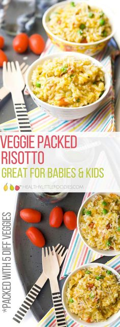 Vegetable Risotto, great for babies and kids. Packed full of 5 different veggie for a nutrient boost. #risotto #kidsfood #blw #babyledweaning via @hlittlefoodies