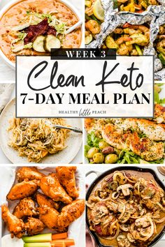 Are you feeling stuck and needing some extra inspiration? I'm here to help with my Free 7-Day Clean Keto Meal Plan. This guide includes 7 full days of meal ideas that are all paleo and keto compliant. Additionally, it includes a FREE PDF printable that outlines 3 meals a day along with snack ideas along with a blank shopping list for you to fill out. #ketomealplan #paleomealplan #mealplanner #freemealplan #healthymealplan #keto #paleo #dairyfree #glutenfree