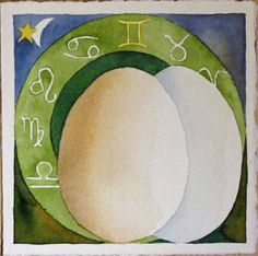 Zodiac dizygotic twins (c) #watercolor by Frank Koebsch; 21 x 21 cm, $270; More information about the Zodiac can be found at http://frankkoebsch.wordpress.com/2011/12/03/sternzeichen-zweieiige-zwillinge-c-aquarell-von-frank-koebsch/
