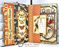 Feeling Run Down Card Olde Curiosity Shoppe by Kathy Clement Product by Graphic 45 Photo 4