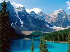 Autotour au Canada. Vallée des Dix Pics, lac Moraine, Parc national de Banff, Alberta, Canada