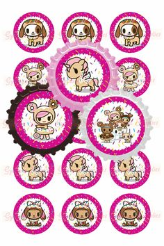Tokidoki Donutella Inspired 1 Bottlecap Images by GyelianaSupplies