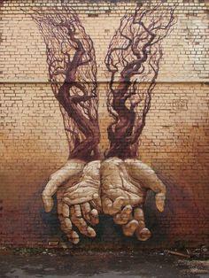 Street Art Hands by Alexander Grebenyuk | Most Beautiful Pages