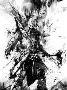 Assassin's Creed III Poster by Russ Mills, via Behance
