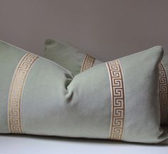 Mint Velvet pillow  Decorative Pillow Cover   12 X by studiotullia, $58.00