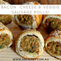 Bacon  Cheese & Veggie Sausage Rolls