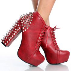 Red Studded Platform Shoe Boots $75  I have these in black. I Love them!