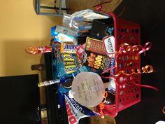 Boyfriend birthday basket! 26 of his favorite things for his 26th!