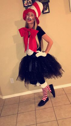 Cat in the hat costume for Halloween