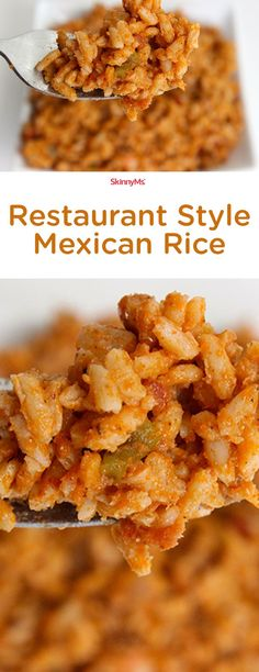 Ever wished you could recreate your own version of authentic Mexican rice in your own home kitchen that can rival any restaurants? Get the flavor, withOUT all the oils and frying. :)