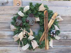 22 Winter Wreath Christmas Wreath Rustic by CreativeSpacesbyGina