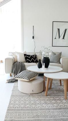 So beautiful all of that white Home Living Room, Apartment Living, Living Room Designs, Living Room Decor, Living Spaces, Apartment Ideas, Apartment Couch, White Apartment, Beige Sofa Living Room