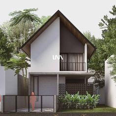 Modern Exterior House Designs, Narrow House Designs, Narrow Lot House Plans, Small House Design, Modern House Design, Japan Modern House, Gable House, Industrial Home Design, Dome House