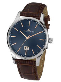Ceasuri | Chrono12 - Jacques Lemans 1-1862C London Herren 40mm 10ATM London, Watches, Big Data, Le Mans, Omega Watch, Men, Jacques Lemans, Accessories, 9 Mm