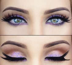 Stunning!!! Green eyes are complimented and best suited to purple shades of eyeshadow! #funfact