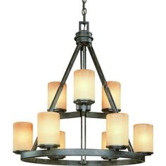 This is from Home Depot.  Would look great in the foyer.  There's a one tier for the dining, too.