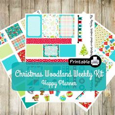 PRINTABLE Happy Planner WOODLAND Animals Weekly Kit by WhimsicalWende on Etsy