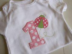 Birthday Baby Bodysuit  Ladybug by EllaLuBoutique on Etsy