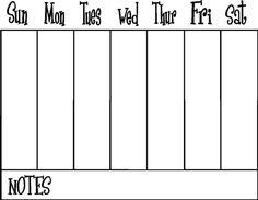 Getting organized! 2-week planner | More Week planner and Planners ...