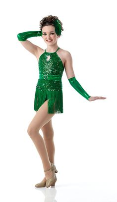 Kendall for Cicci Dance Creations. That green is gorgeous on her!