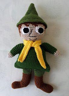 Virkkausta ja värkkäystä: Virkattu Nuuskamuikkunen Knit Crochet, Crochet Hats, Moomin, Diy Toys, Dinosaur Stuffed Animal, Christmas Ornaments, Knitting, Holiday Decor, Tove Jansson
