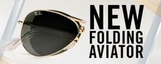 Ray-Ban sells folding aviators! Take up even less space in your suitcase with these.