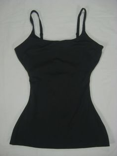 Spanx-Shapewear-Love-Your-Assets-Cami-Top-S-Black-Camisole-Shaper