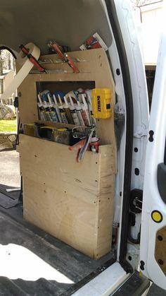 Contractor Talk - Professional Construction and Remodeling Forum Trailer Organization, Trailer Storage, Truck Storage, Van Storage, Tool Storage, Storage Ideas, Kangoo Express, Van Shelving, Flooring Tools