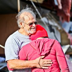 Comforting neighbors after the 2012 Leap Year Tornado in Branson