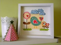 3d COLORFUL BIRD art framed mount for your wall nursery kids on Etsy, $55.50 AUD