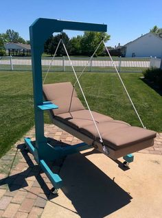 Pretty soon it was ready for lounging! All you need is a daiquiri.